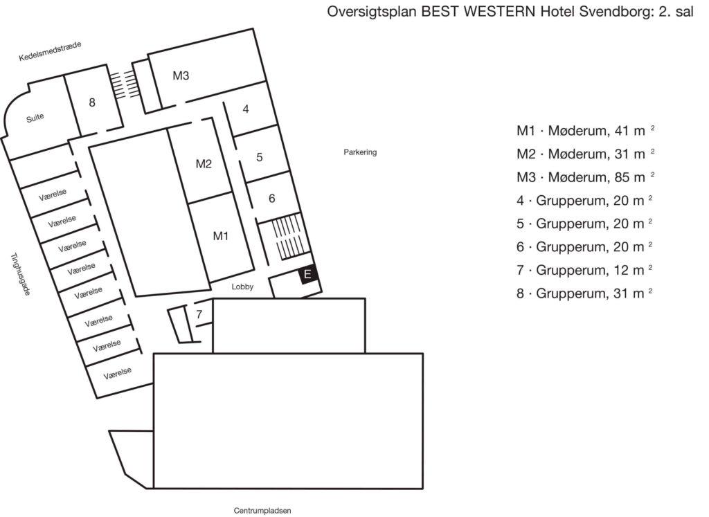 Oversigtsplan 2. sal