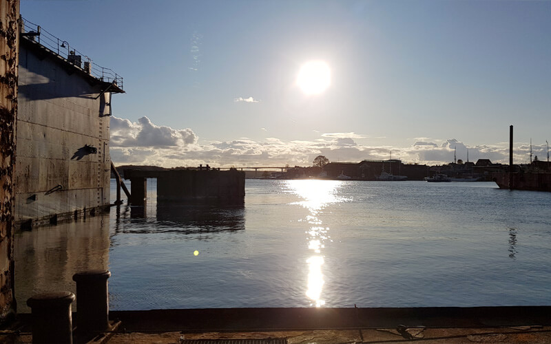 Opera i Svendborg - dokken på Frederiksø